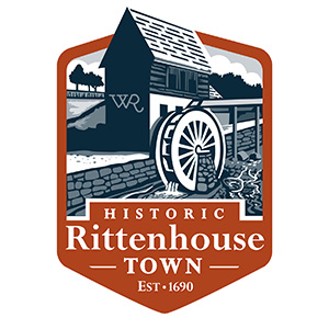 Historic Rittenhouse Town logo by Al Cassidy