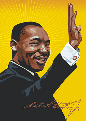 Martin Luther King Jr. illustration
