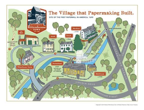 Historic Rittenhouse Town map